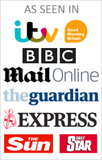 As seen in ITV Good Morning Britain, BBC, Mail Online, The Guardian, The Express & The Sun