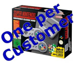 Retailers limit one SNES per customer